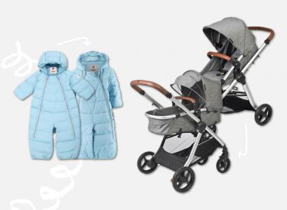 Barnkläder och barnvagnar