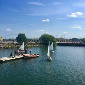 Sailing boats in Frihamnen